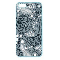 Abstract Floral Pattern Grey Apple Seamless Iphone 5 Case (color)