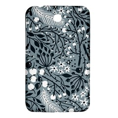 Abstract Floral Pattern Grey Samsung Galaxy Tab 3 (7 ) P3200 Hardshell Case