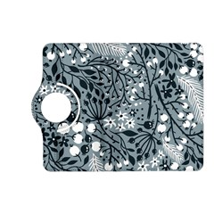 Abstract Floral Pattern Grey Kindle Fire Hd (2013) Flip 360 Case