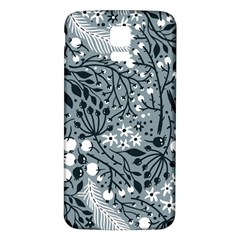Abstract Floral Pattern Grey Samsung Galaxy S5 Back Case (white)
