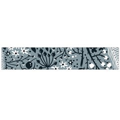 Abstract Floral Pattern Grey Flano Scarf (large)
