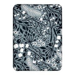 Abstract Floral Pattern Grey Samsung Galaxy Tab 4 (10 1 ) Hardshell Case