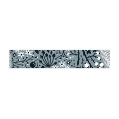 Abstract Floral Pattern Grey Flano Scarf (mini)