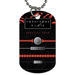 Twenty One Pilots Event Poster Dog Tag (one Side)