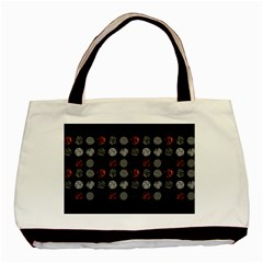 Digital Art Dark Pattern Abstract Orange Black White Twenty One Pilots Basic Tote Bag (two Sides)