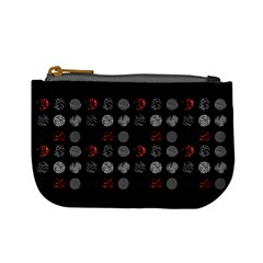 Digital Art Dark Pattern Abstract Orange Black White Twenty One Pilots Mini Coin Purses