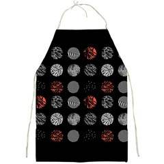 Digital Art Dark Pattern Abstract Orange Black White Twenty One Pilots Full Print Aprons