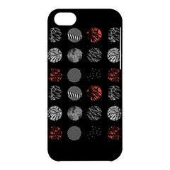 Digital Art Dark Pattern Abstract Orange Black White Twenty One Pilots Apple Iphone 5c Hardshell Case