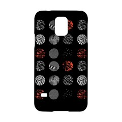Digital Art Dark Pattern Abstract Orange Black White Twenty One Pilots Samsung Galaxy S5 Hardshell Case