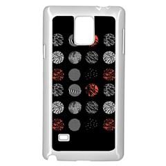 Digital Art Dark Pattern Abstract Orange Black White Twenty One Pilots Samsung Galaxy Note 4 Case (white)
