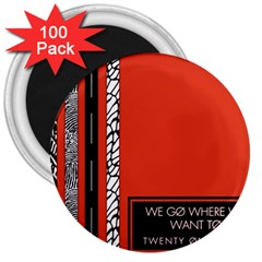Poster Twenty One Pilots We Go Where We Want To 3  Magnets (100 Pack)