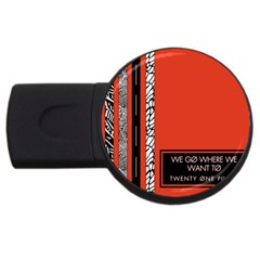 Poster Twenty One Pilots We Go Where We Want To Usb Flash Drive Round (2 Gb)