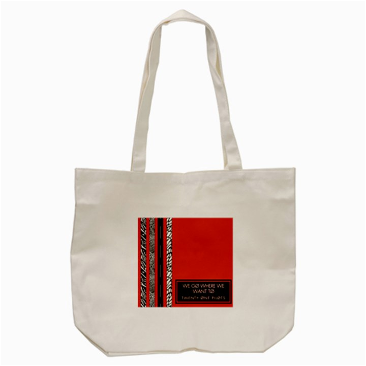 Poster Twenty One Pilots We Go Where We Want To Tote Bag (Cream)