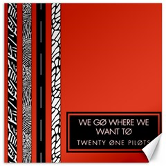 Poster Twenty One Pilots We Go Where We Want To Canvas 20  X 20