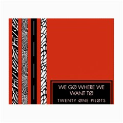 Poster Twenty One Pilots We Go Where We Want To Small Glasses Cloth (2 Side)