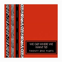 Poster Twenty One Pilots We Go Where We Want To Medium Glasses Cloth
