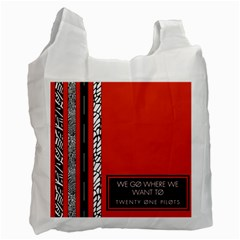 Poster Twenty One Pilots We Go Where We Want To Recycle Bag (one Side)