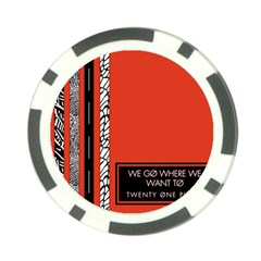 Poster Twenty One Pilots We Go Where We Want To Poker Chip Card Guard (10 Pack)