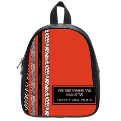 Poster Twenty One Pilots We Go Where We Want To School Bag (small)