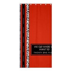 Poster Twenty One Pilots We Go Where We Want To Shower Curtain 36  X 72  (stall)