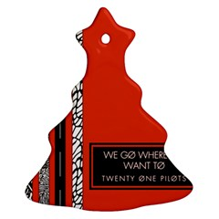 Poster Twenty One Pilots We Go Where We Want To Christmas Tree Ornament (two Sides)