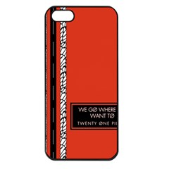 Poster Twenty One Pilots We Go Where We Want To Apple Iphone 5 Seamless Case (black)