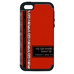 Poster Twenty One Pilots We Go Where We Want To Apple Iphone 5 Hardshell Case (pc+silicone)