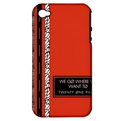 Poster Twenty One Pilots We Go Where We Want To Apple Iphone 4/4s Hardshell Case (pc+silicone)