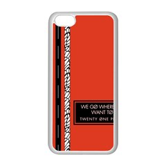 Poster Twenty One Pilots We Go Where We Want To Apple Iphone 5c Seamless Case (white)