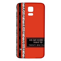 Poster Twenty One Pilots We Go Where We Want To Samsung Galaxy S5 Back Case (white)