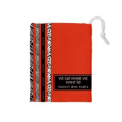 Poster Twenty One Pilots We Go Where We Want To Drawstring Pouches (medium)