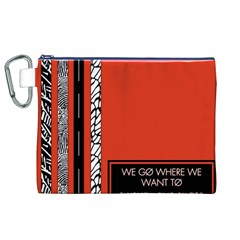 Poster Twenty One Pilots We Go Where We Want To Canvas Cosmetic Bag (xl)