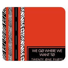 Poster Twenty One Pilots We Go Where We Want To Double Sided Flano Blanket (small)