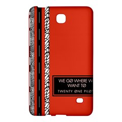 Poster Twenty One Pilots We Go Where We Want To Samsung Galaxy Tab 4 (7 ) Hardshell Case