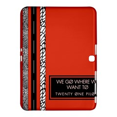 Poster Twenty One Pilots We Go Where We Want To Samsung Galaxy Tab 4 (10 1 ) Hardshell Case