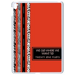 Poster Twenty One Pilots We Go Where We Want To Apple Ipad Pro 9 7   White Seamless Case