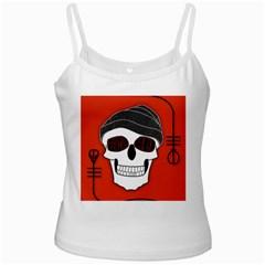 Poster Twenty One Pilots Skull White Spaghetti Tank