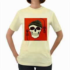 Poster Twenty One Pilots Skull Women s Yellow T Shirt