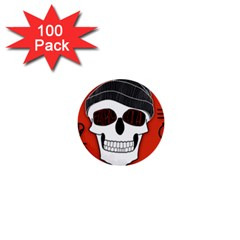 Poster Twenty One Pilots Skull 1  Mini Buttons (100 Pack)