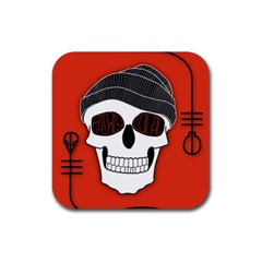 Poster Twenty One Pilots Skull Rubber Square Coaster (4 Pack)