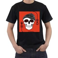 Poster Twenty One Pilots Skull Men s T Shirt (black) (two Sided)