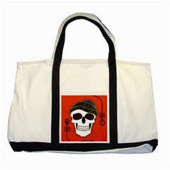 Poster Twenty One Pilots Skull Two Tone Tote Bag