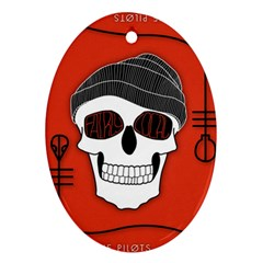 Poster Twenty One Pilots Skull Oval Ornament (two Sides)