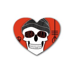 Poster Twenty One Pilots Skull Rubber Coaster (heart)