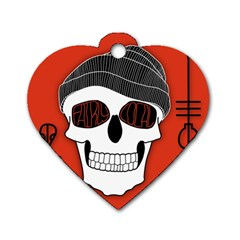 Poster Twenty One Pilots Skull Dog Tag Heart (one Side)