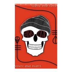 Poster Twenty One Pilots Skull Shower Curtain 48  X 72  (small)