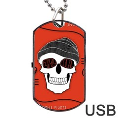 Poster Twenty One Pilots Skull Dog Tag Usb Flash (one Side)