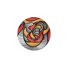 Beautiful Pattern Background Wave Chevron Waves Line Rainbow Art Golf Ball Marker
