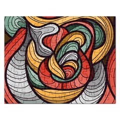Beautiful Pattern Background Wave Chevron Waves Line Rainbow Art Rectangular Jigsaw Puzzl