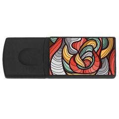 Beautiful Pattern Background Wave Chevron Waves Line Rainbow Art Rectangular Usb Flash Drive